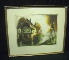 Sonia Hammont Etching/Aquatint in full color, circa 1920,s. French.