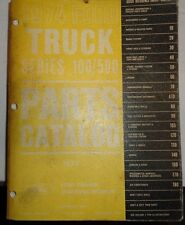 1974 Ford Truck Parts Catlog Book F100 250 350 500 Text