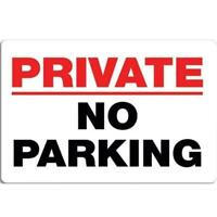 Metal Plate Sign Private Property NO Parking Cave Home Gate Decor Warn Bar Tin