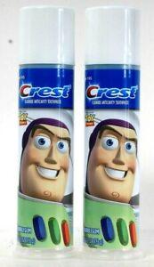 2 Count Crest 4.2 Oz Disney Pixar Toy Story Blue Bubblegum Fluoride Toothpaste