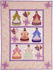 New Wallhanging Quilt Pattern Victorian Angels Hearts and Stars 39X50
