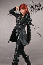 Veste manteau gothique punk lolita steampunk sangles laçages cuir PunkRave Noir