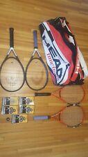 Head Tennis Tour Bag, 4 Rackets, Flexpoint Radical, TiS6, 5 Pro Grip Packs Lot