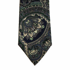 ROBERT TALBOTT for Peter Richard Stunning Paisley Swirl Gray Tone Wool Neck Tie