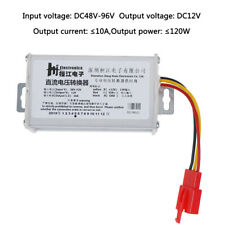 DC 36V-72V To 12V-10A 120W Converter Adapter for Electric Car Battery a T1