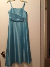 Party Flower Girl Bridesmaid Evening Prom Ball Dress Age 6-7 Blue Beaded