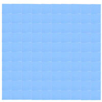 100x100mm Blue Heatsink Cooling Thermal Conductive Silicone Pad