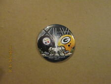 NFL Steelers Packers Super Bowl XLV North Texas 2011 Vintage Pinback Button