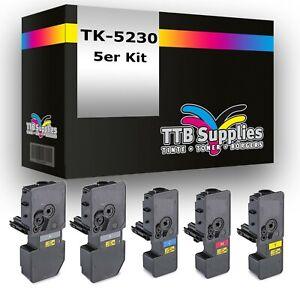 5x Toner  für Kyocera XXL TK5230 P5021cdn M5521cdn M5521cdw P5021cdw ECOSYS