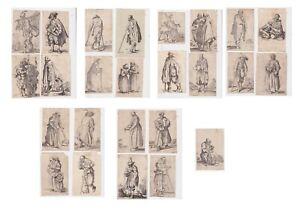 Jacques Callot (1592-1635) Les Gueux i mendicanti 25 tavole serie completa 1622