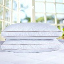 """Puredown® 2 Pack Goose Down Feather Bed Pillows 2"""" Gusseted Rhombic Quilting"""