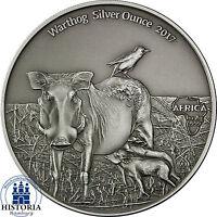 Afrika Serie Warzenschwein Silver Ounce 2017 Kamerun 1000 Francs Antique Finish
