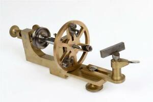 Vintage ~ Brass and Steel Watchmakers or Jewellers Lathe                   #2098