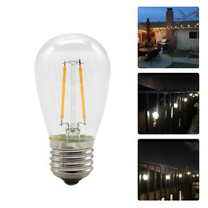 S14 E27 2W Led Edison Filament Lights Bulbs Lamps Warm White 2700K AC220V DC12V