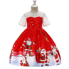 Children Girls Kids Christmas Party Dress Pageant Ball Gown Princess Dresses