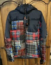 Hawke And Co Plaid and Check Down Jacket Men's SM Women's M/L $150 Macys RARE
