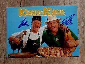 Klaus & Klaus - Handsignierte Autogrammkarte (Original)