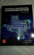 Business & Professional Communication - Texas Edition 2017