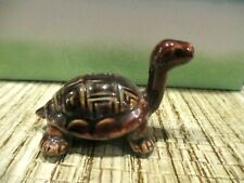 ceramic brown turtle figurine