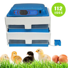 112 Egg Digital Automatic Turning Incubator Hatcher Machine Dual Power 220V CA