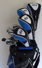 Mens Golf Set Driver, Woods, Hybrid, Irons, Putter, Sand Wedge & Cart Bag Stiff