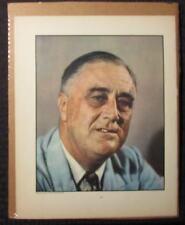 "1940 Franklin D. Roosevelt FDR 11x14"" Portrait VG/FN 5.0 World War II 2"