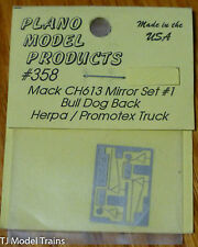 Plano #358 Photo-Etched Mirrors for Mack CH613 Trucks -- Set #1 w/Bulldog Back