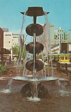 Fresno CA Mall 150 Trees 27 Water Features Postcard 1960s