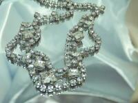 WOW Super Sparkling Vintage 50's Prong Set Ice Rhinestone Elegant Necklace 703N0