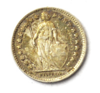 1921 B Switzerland 1/2 Half Franc Silver Coin KM# 23