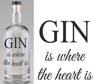 Gin is Where the Heart IS Bottle Labels Beer bottle labels Home Brew Gin Time