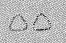 2PCS METAL CHROME FINISH SPLIT RING FOR CAMERA STRAP TRIANGLE RINGS 13 mm NEW