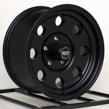 15 inch Wheels Rims Jeep Wrangler Cherokee Ford Ranger Five lug 5x4.5 Black Baja