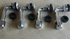 ORIGINAL  METAL VALVE STEMS SSR JAPAN  set of 4  (90 DEGREE ANGLE   )