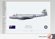 Warhead Illustrated Meteor F.8 77Sqn RAAF  A77-207 Bowl Em Over Aircraft Print