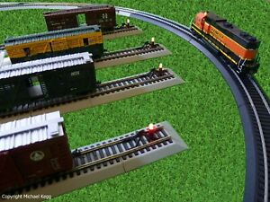 Bachmann HO Nickel Silver DCC EZ Track Four Constant LED Lighted Hays Bumpers