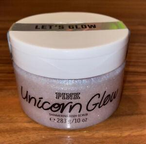 Victorias Secret PINK Unicorn Glow Shimmering Body Scrub 10 Oz-NEW-Sealed !!!