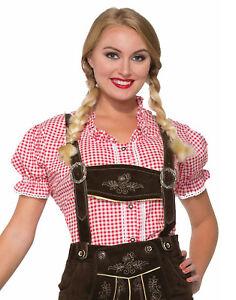 Red Lederhosen Womens Adult Beer October Fest Costume Shirt