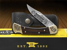 BUCK 110 Premier Edition Ebony Wood Folding Hunter 1/250 Pocket Knife Stainless