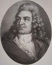 DESTOUCHES NERICAULT . Portrait, lithographie de 1821,