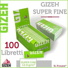 5000 Cartine GIZEH VERDI CORTE SUPER FINE - 2 Box 100 LIBRETTI - GREEN LIME