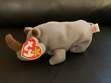 Ty Beanie Baby Spike The Rhinoceros Rare Tag Errors see images