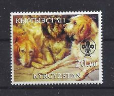Dog Art Body Portrait Postage Stamp Otterhound Otter Hound Kyrgyzstan 2002 Mnh