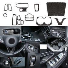 14PCS Real Carbon Fiber Full Interior Trim Cover  For BENZ  W205 C300 C63 15-19