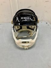 Rare Vintage Ccm Pro Standard Hockey Helmet with Bumpers and Jaw protector