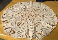 Vtg Off White Round Crochet Doily