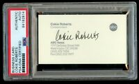 Cokie Roberts signed autograph ABC News Correspondent Business Card PSA Slabbed