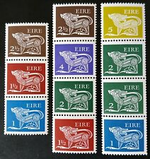 IRELAND 1971-7 COILS SE-TENANT x 3 DIFFERENT STRIPS UNMOUNTED MINT.