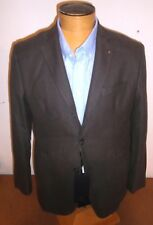 Massimo Dutti Extra Fine Cotton Three Button Sport Coat Jacket NWT 42R Brown
