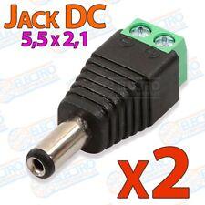 Adaptador alimentacion conector Jack 5,5x2,1 DC - Macho - Lote 2 unidades - Ardu